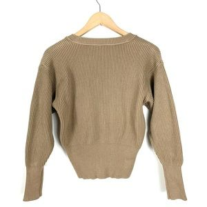 Free People Sweaters - Free People Sweater Ribbed Brown Size Extra Small